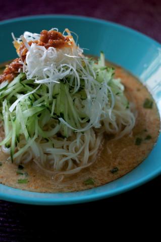 0629の担々風 ピリ辛豆乳素麺