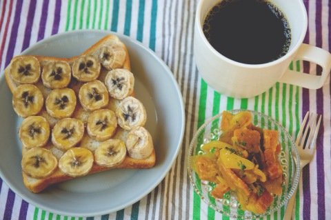 0926のメープルバナナトースト