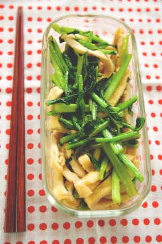 0121の揚げと蕪葉っぱの炒め煮